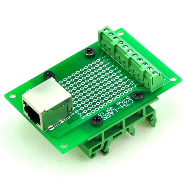 Rj50 10p10c Interface Module With Simple DIN Rail Mounting Feet