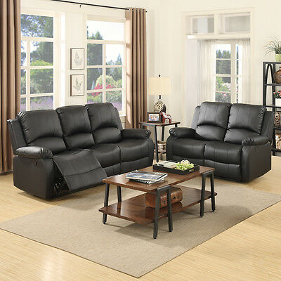 3 2 Seater Sofa Set Loveseat Couch Recliner Leather Living - 3 2 1 Sofa Set