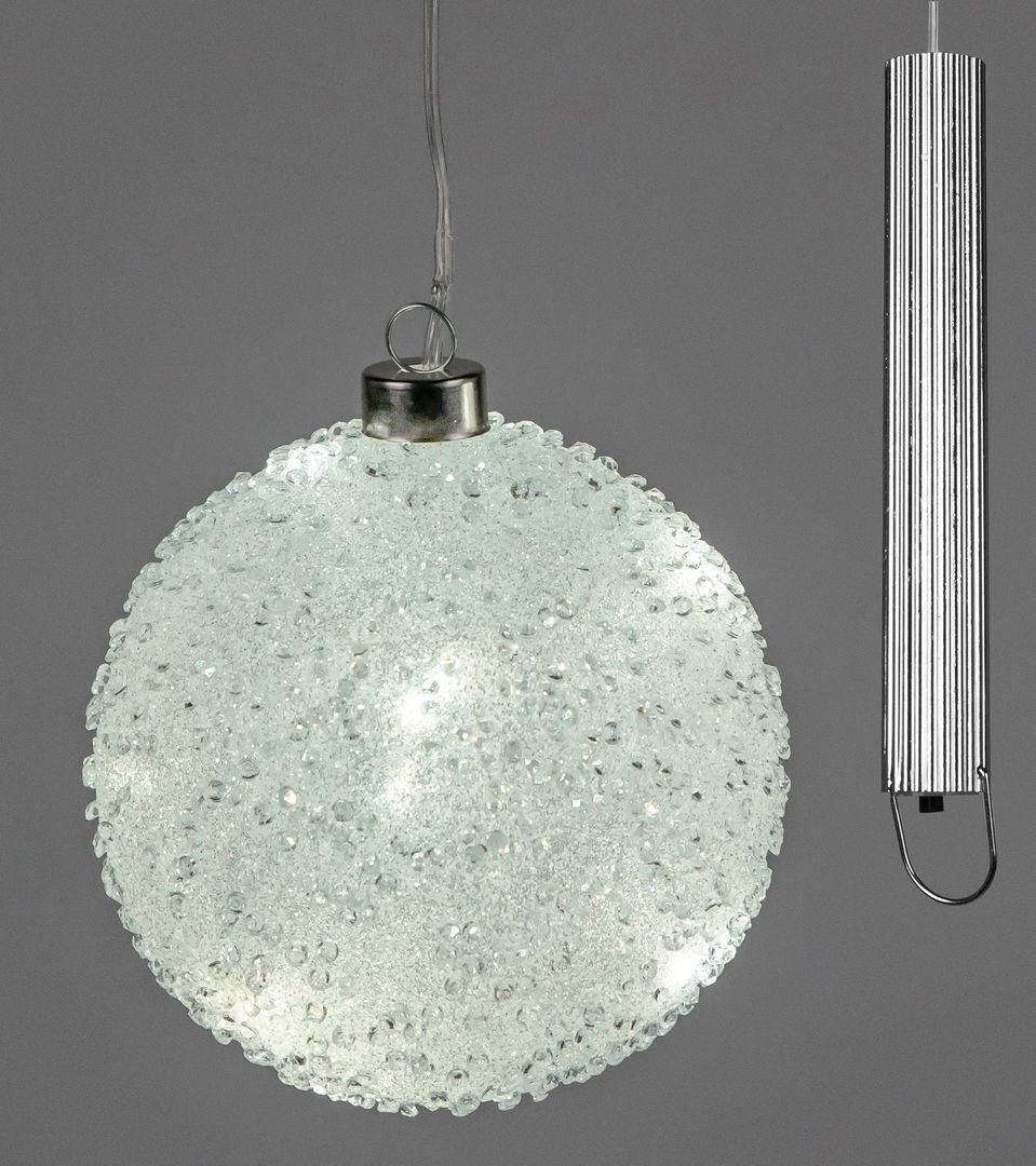 Formano Online Shop Formano Winter Decoration Ball Eis Optik With Led Light 12cm 821560