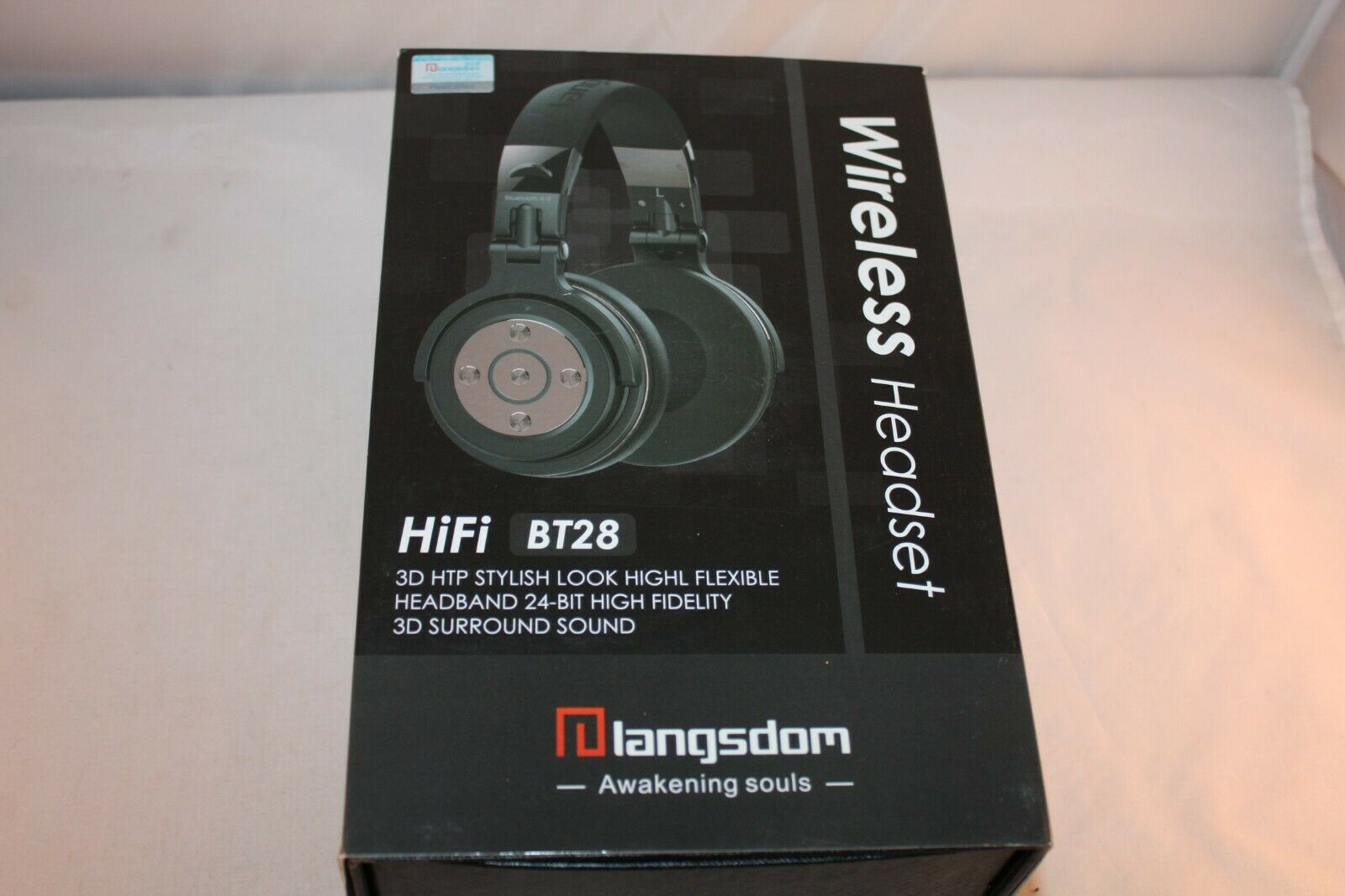 Headphones Wireless Bluetooth Headset Langsdom Bt28 Super Deep Bass Hifi Sound For Sale Online Ebay