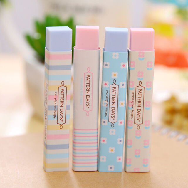 3Pcs Stationery Supplies Kawaii Pencil Erasers For Office School