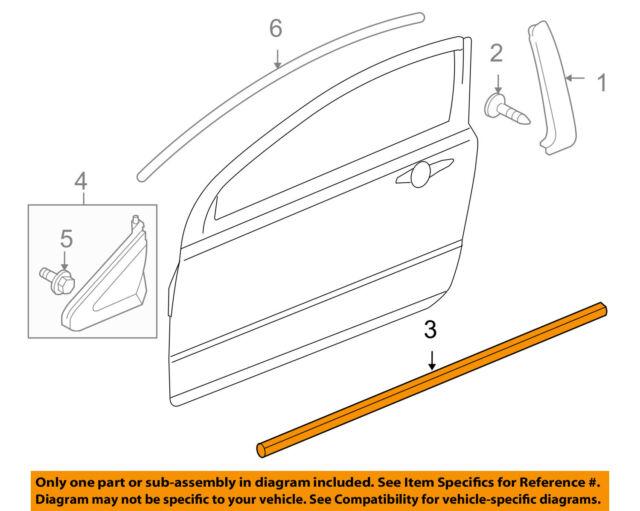 06-11 Honda Civic Coupe 72410SVAA01ZA Genuine OEM Belt W\u0027strip for
