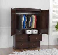 Wardrobe Closet Bedroom Armoire 4 Drawer 2 Door Furniture ...