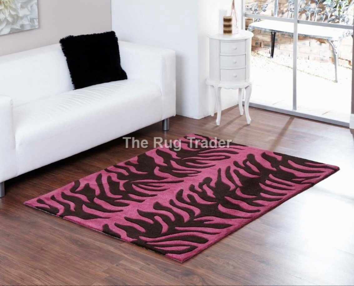 Tapis Luxe Design Aspire Tigre Marron Chocolat Design Abstrait Prune Tapis De De