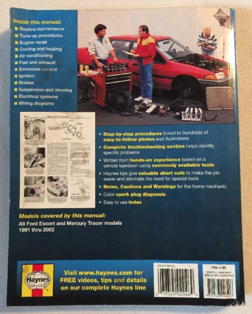Haynes Ford Escort and Mercury Tracer, 1991-95 by Haynes