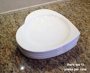 Heart Shaped Reception Dinner Plates Buffet Set Of 12