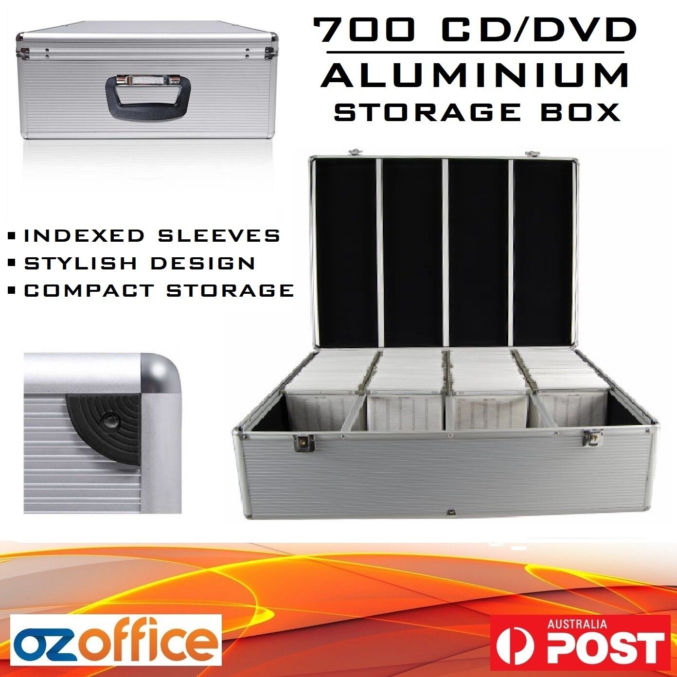 Dvd Storage Boxes Australia Details About Brand New Aluminium 700 X Cd Dvd Blu Ray Storage Box Lock Case Black Or Silver