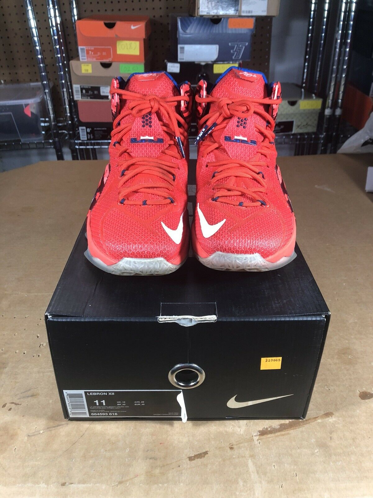 Aquaneo Wc 100 Authentic Nike Lebron 12 Independence Day Size 11 616 684593