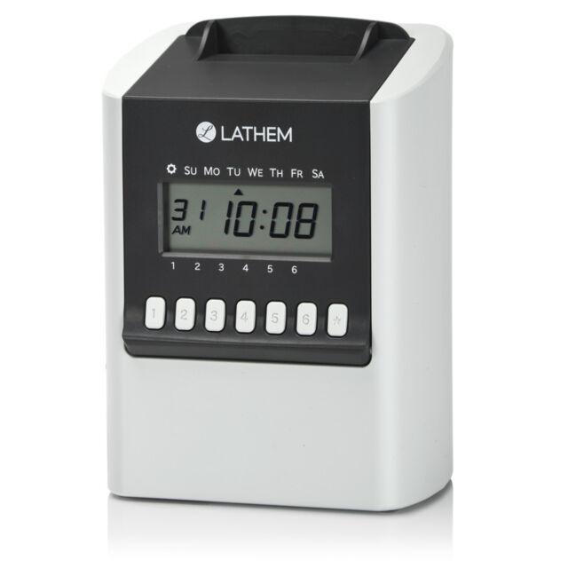 Buy Lathem 700e Calculating Electronic Time Clock online eBay