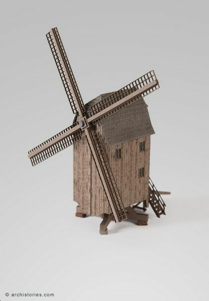 Archistories Z Scale 703141 Motorized Windmill Animated Building Kit