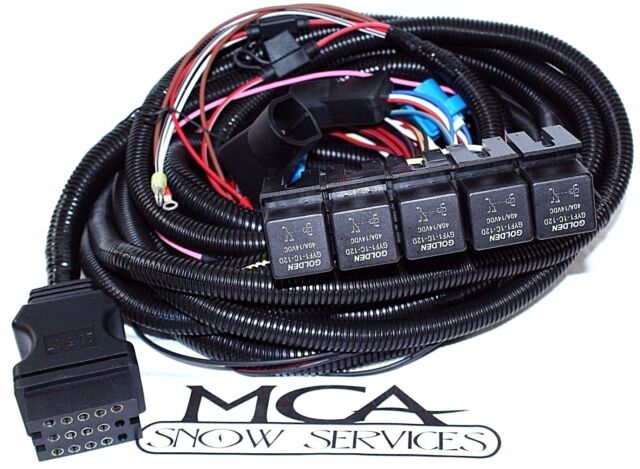 Boss Snow Plow 13 Pin 5 Relay Wiring Harness Ford Truck MSC08001 for