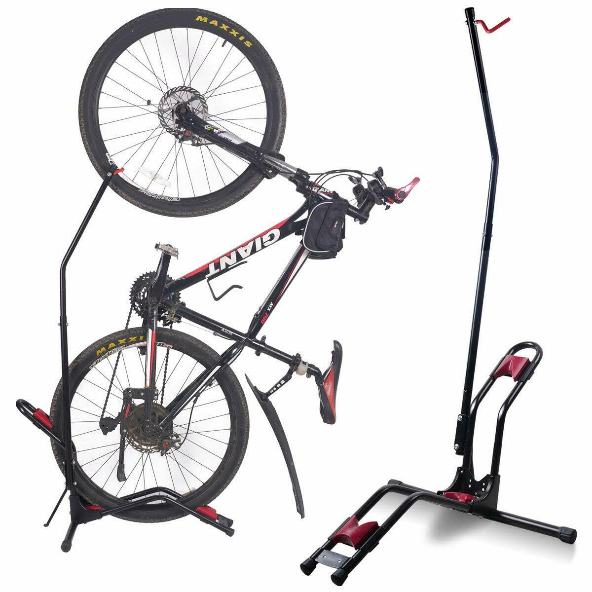 Parking Garage Bike Rack Details About Bike Floor Parking Stand Storage Mountain Bicycle Rack Garage Hanger Wall Mount