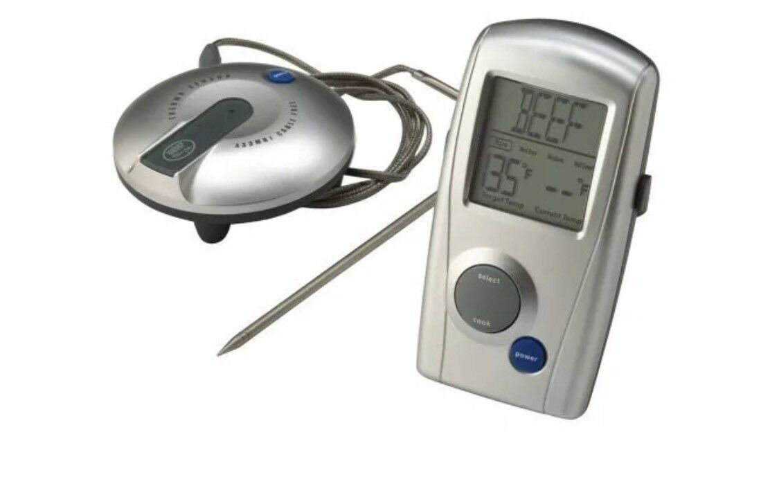 Weber Grill Thermometer Details About Weber 32908 Digital Professional Grade Barbecue Meat Smoker Thermometer