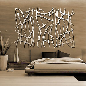 Abstract Stainless Steel Wall Sculpture Art Metal Decor