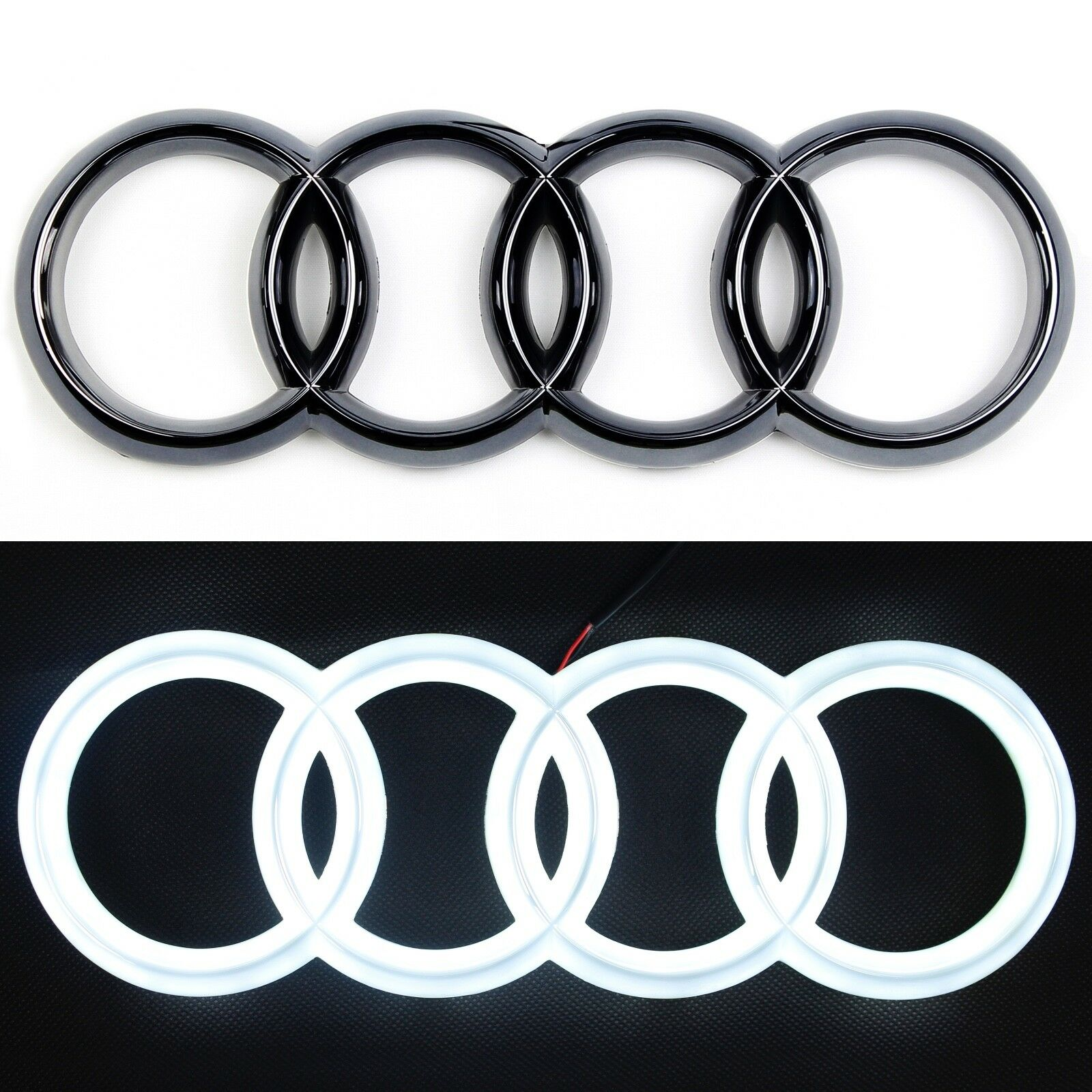 Led Verlichting Audi Logo Details About Led Emblem Audi Black Edition A3 A4 A5 A6 Light Front Grill Logo Badge Rings