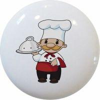 Chef Baker Ceramic Kitchen Cabinet Drawer Pull Knob | eBay