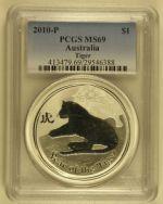 PCGS MS Australian Colorized Lunar