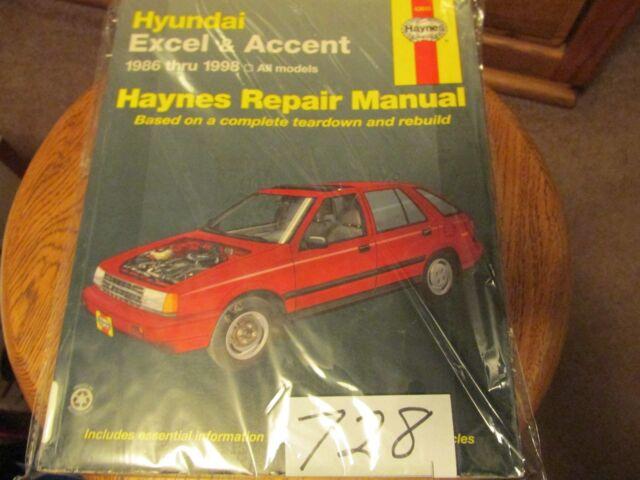 HAYNES SERVICE Repair Manual Hyundai Excel 1986 -1994 All Models