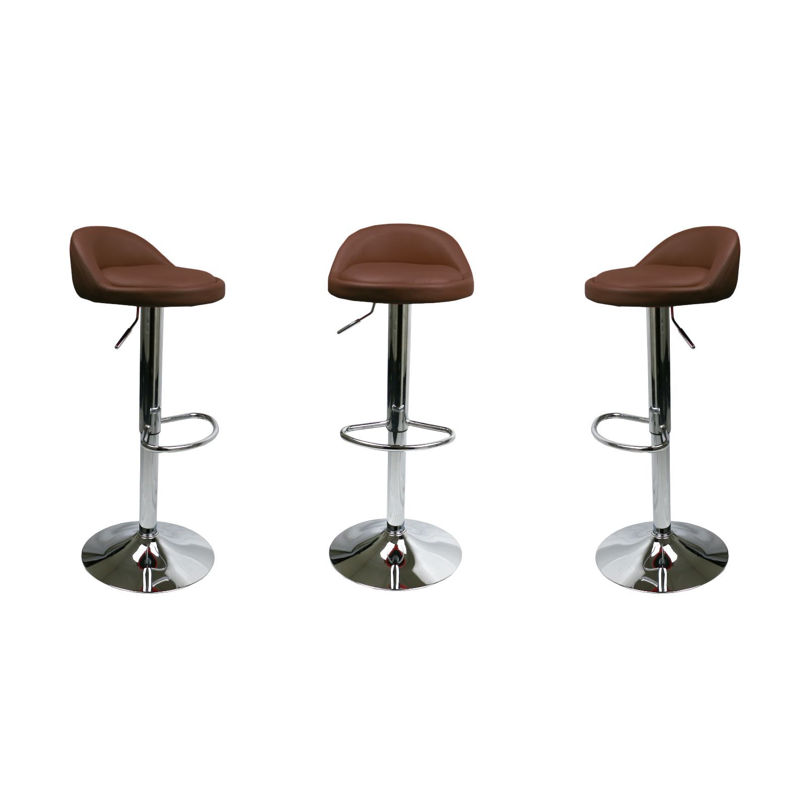 Brown Adjustable Bar Stool Set Of 2 Brown Leather Bar Stools Swivel Dinning Counter