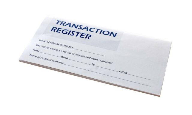 5 Checkbook Transaction Registers Calendar 2018 2019 2020 Check Book