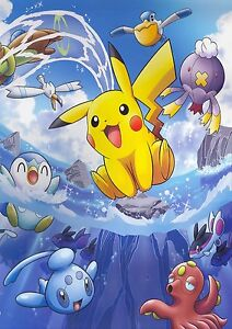 Cute Pikachu And Ash Wallpaper Pikachu Japanese Anime Pokemon Game 0092 Poster Print A4