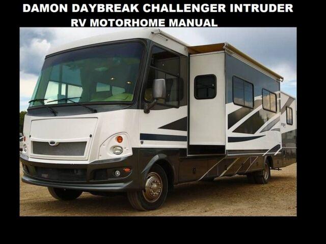 DAMON DAYBREAK CHALLENGER INTRUDER MOTORHOME MANUALs 455pg w RV
