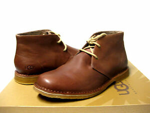 Ugg Leigton Men Boots Leather British Tan Us 11 Uk8 Eu44