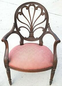 Hickory Chair Anthemion Fauteuil Mahogany Scroll Armchair - Fauteuils Variation Réparation
