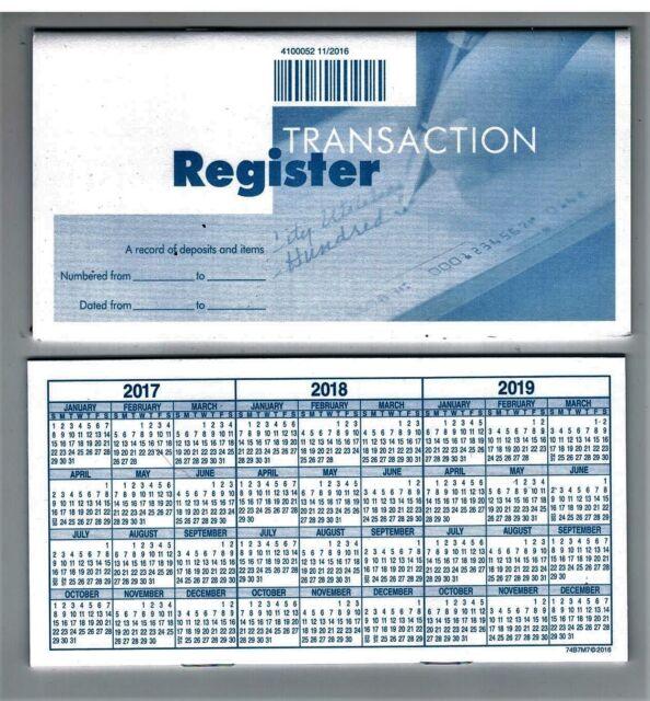 Deluxe Checking Checkbook Transaction Register for sale online eBay