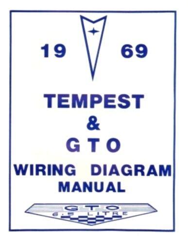 Pontiac 1969 Tempest  GTO Wiring Diagram 69 for sale online eBay
