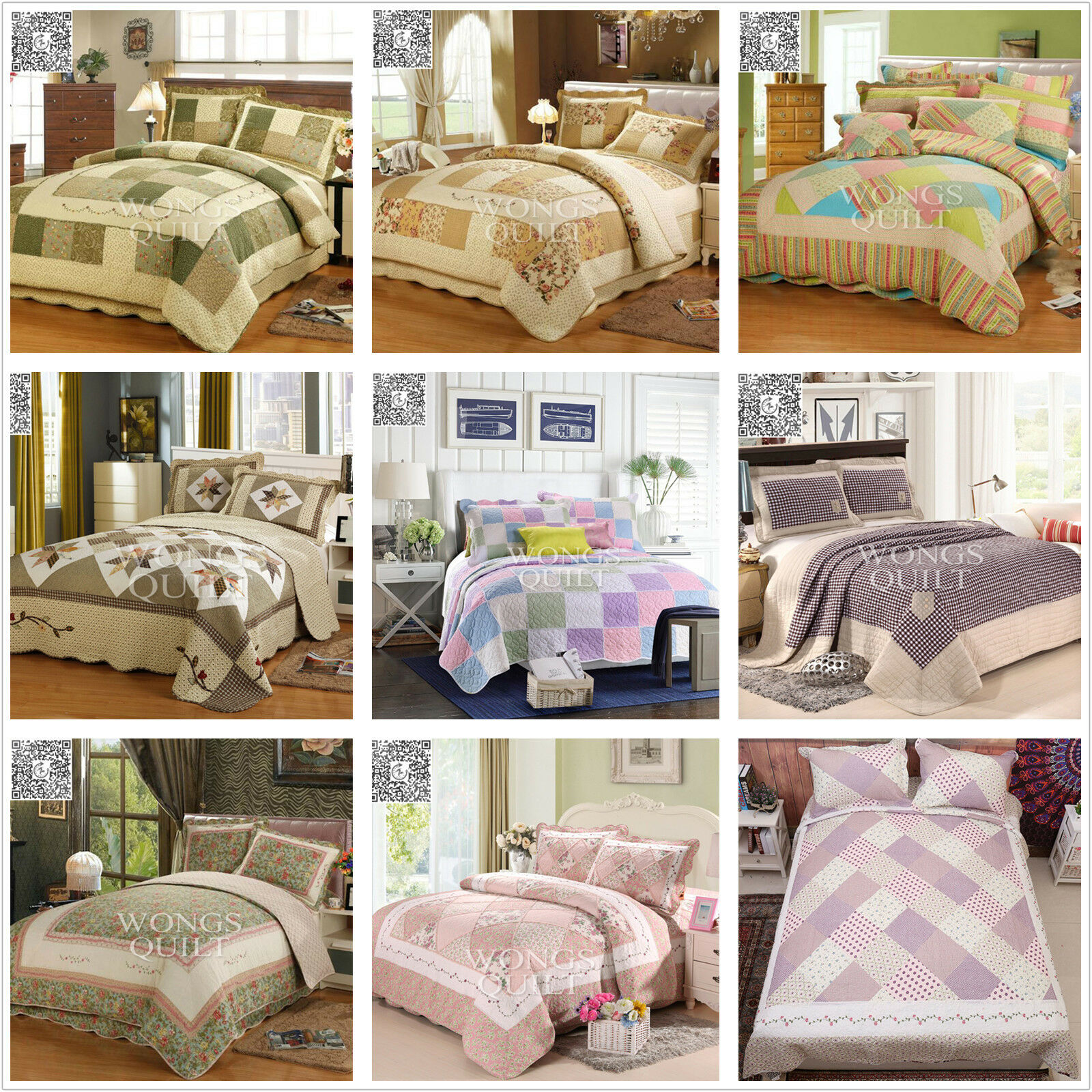 Bed Coverlet Details About Cotton Quilted Patchwork Bedspreads Set Queen King Size Bed Coverlet Throw Rug
