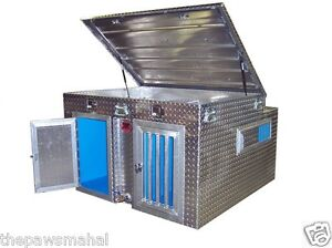 Diamond Plate Aluminum Dog Box With Built In Water Tank