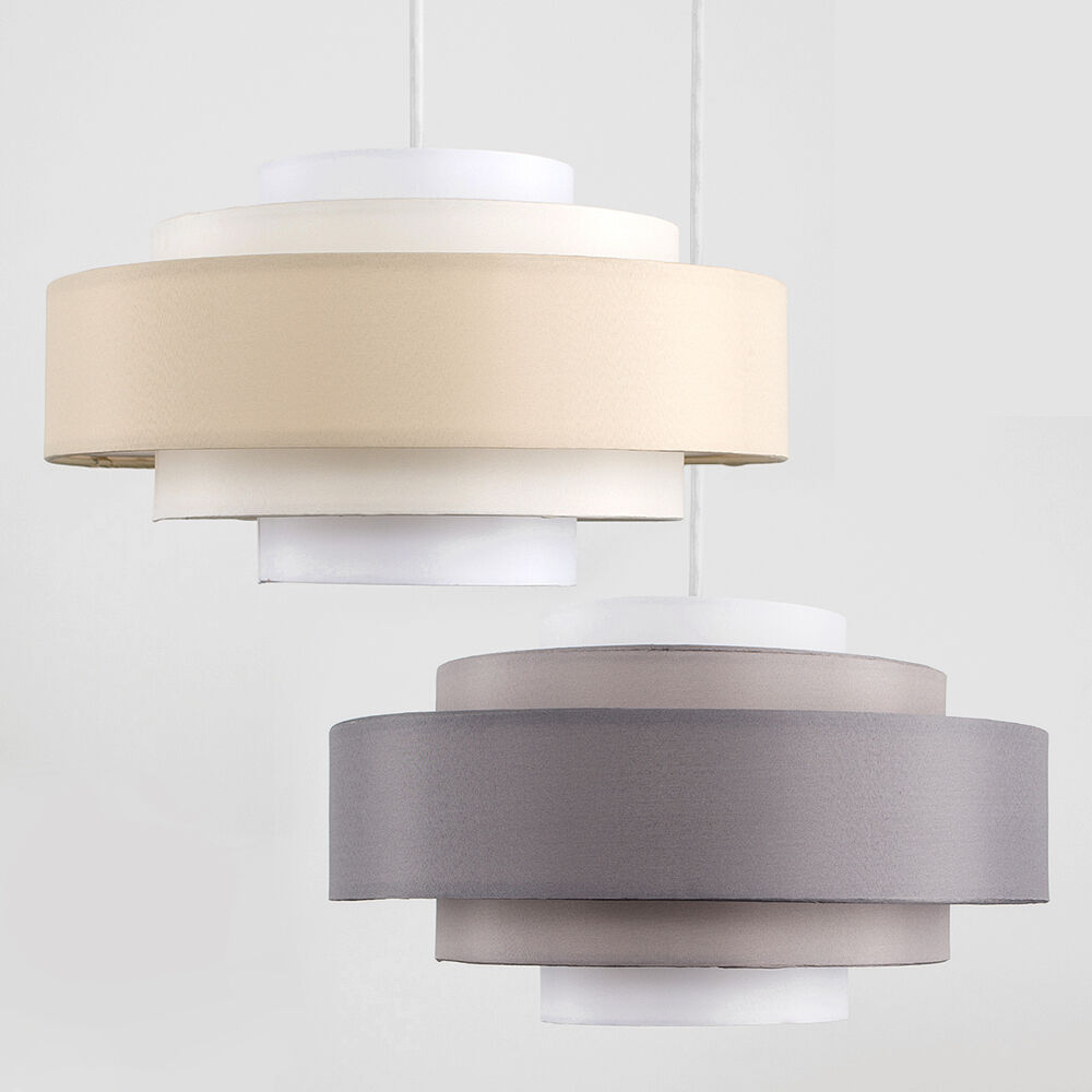 Ceiling Light Shades Details About Modern 5 Tiered Cotton Easy Fit Ceiling Pendant Light Shades Lampshade Led Bulb