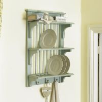 Vintage Blue Wall Mounted Plate Rack by Dibor | eBay