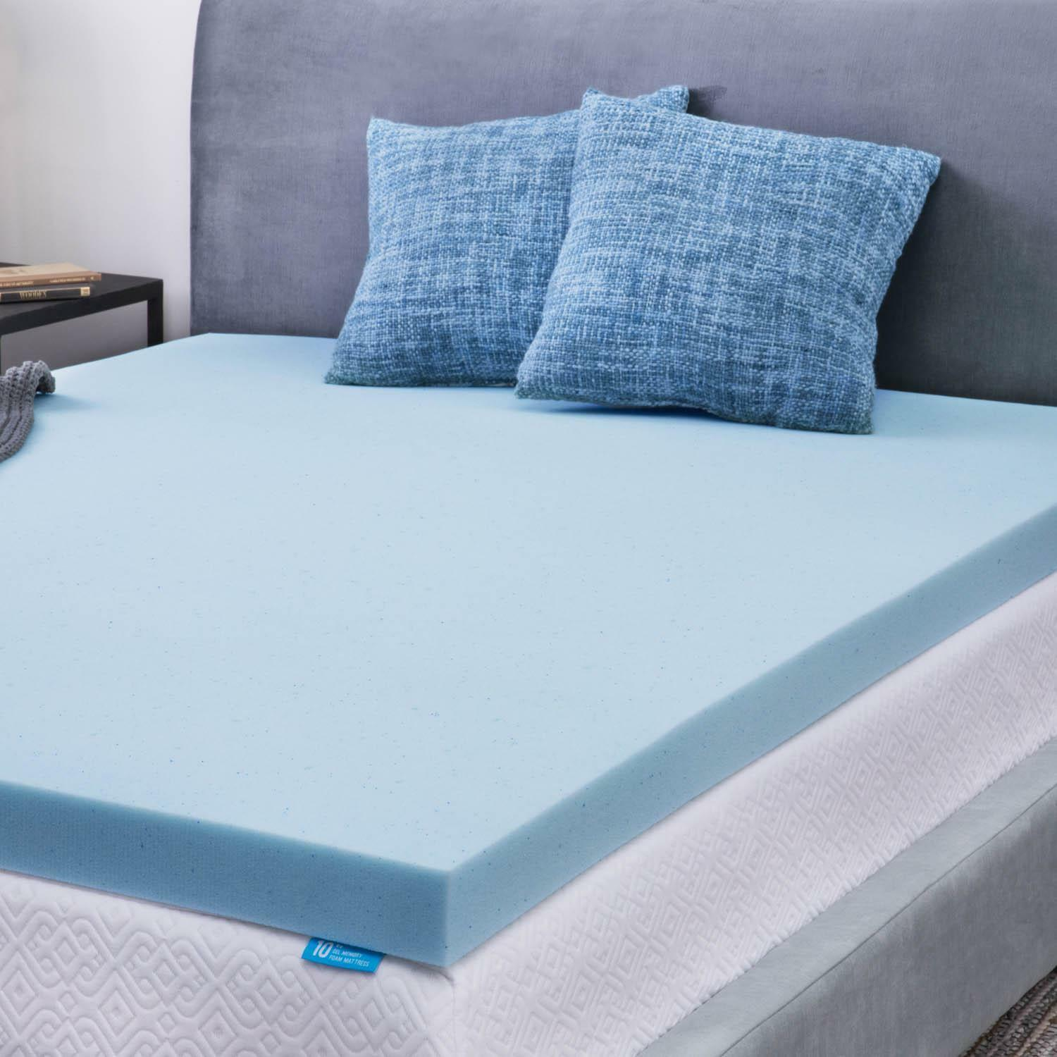 Memory Foam Mattress Toppers Lucid 3 Inch Gel Memory Foam Mattress Topper Full