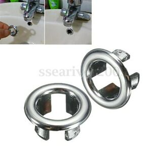 Bathroom basin sink spares round overflow cover tidy trim