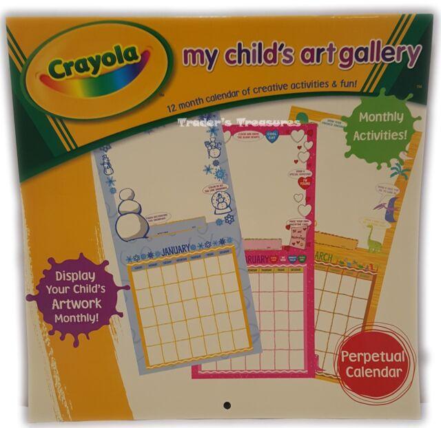 Crayola My Child\u0027s Art Gallery 12 Month Activity Coloring Calendar