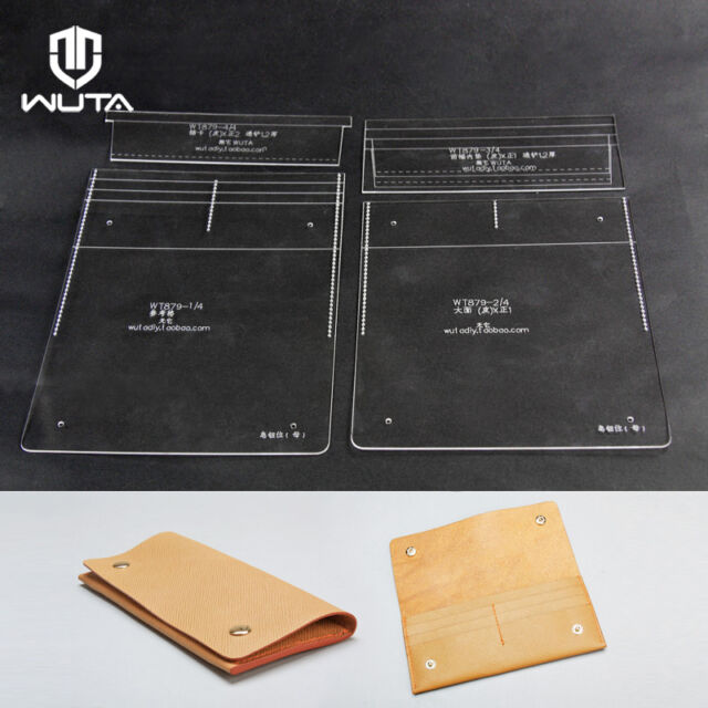 Long Wallet Leather Template Clear Acrylic Plexiglass Leathercraft - wallet template