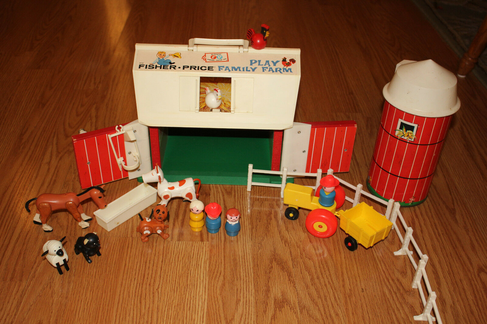 Innenausstattung Minecraft Vintage 1967 Fisher Price Little People Farm Barn Silo Wood