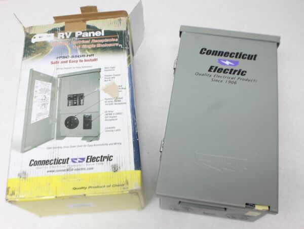 Electric Psc 55gr Hr 120 240v Rv Panel 50a Breaker 20 Amp Gcfi Ebay