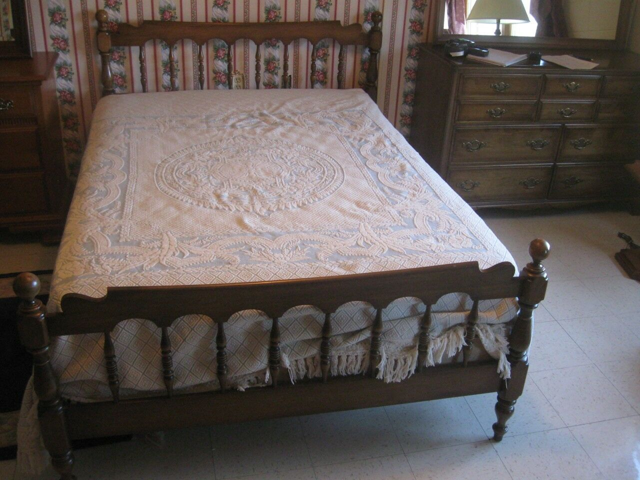 Full Double Bed Ethan Allen Kling Colonial Williamstown Full Double Bed Classic Manor Style