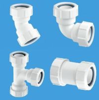 32mm & 40mm Waste Pipe Fittings 45 & 90 Elbow, Straight ...