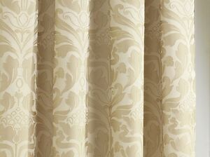 Natural Gold 3quot Top Tape Lined Ready Made Curtains
