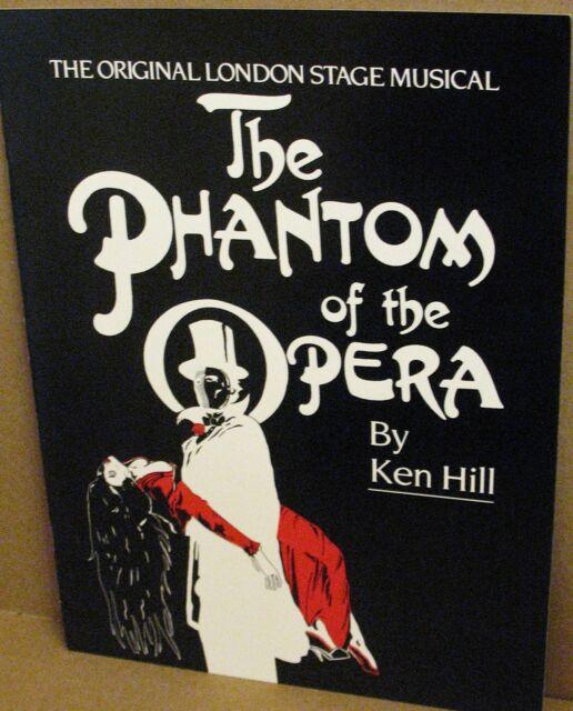 Phantom of The Opera Souvenir Program- Original London Stage Musical