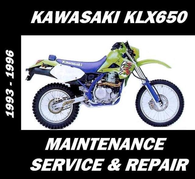 Kawasaki KLX650 Service Manual Maintenance Repair Rebuild KLX 650