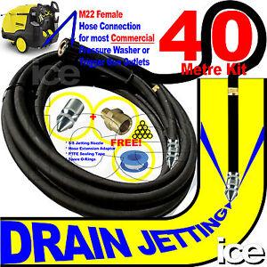 40m HD KARCHER PRESSURE WASHER DRAIN PIPE PATIO DRIVEWAY