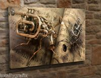Extra Large Canvas Wall Art Picture Print Steampunk Music ...