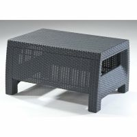 Wicker Coffee Table Outdoor Patio Rattan Side End Deck ...