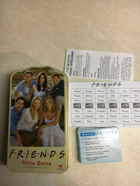 Friends Trivia Game by Cardinal 200 Questions in Collectors Tin 2003