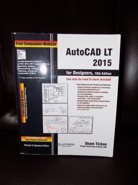AutoCAD LT 2015 for Designers 10th Edition Book EUC eBay